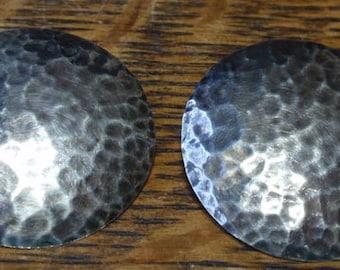 Vintage Hammered 800 Silver Earrings