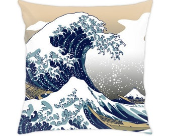 The Great Wave off Kanagawa pillow cover