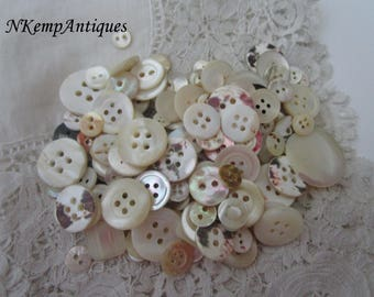 Antique shell buttons Mother of pearl
