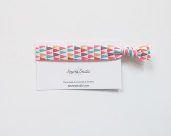 Triangles Multi Color Hair Tie