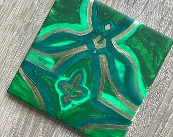 Unique Green Coaster