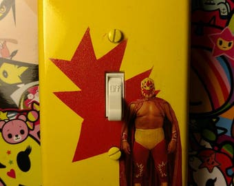 Lucky Luchador Light Switch Cover