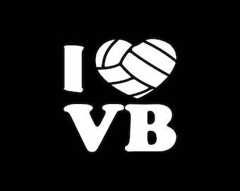 Volleyball Decal,I love Volleyball Decal,Volleyball Player,Volleyball Car Decal,Volleyball Player Bumper Sticker,Yeti,Laptop,tablet etc..