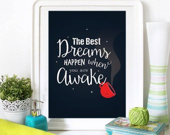 Motivational Poster, Inspirational Quote, Motivational Quote, Inspirational Print, Motivational Print, Typography art, Kitchen Wall Art