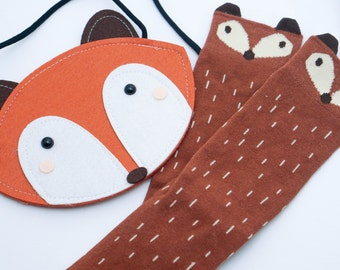 Baby Fox Bag - Personalized, Baby Handbag, Crossbody baby bag, Crossbody Bag for Toddler