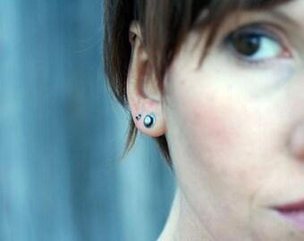 Sale Double Dot Sterling Silver Earrings Free Domestic Shipping