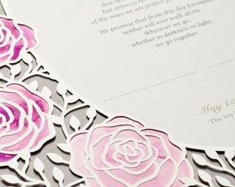 ROSES paper-cut Marriage Certificate