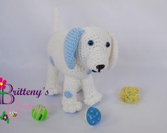 Plush Puppy Dog Crochet Plush Puppy Dog Amigurumi Crochet Plush Puppy Dog Blue Spots Plush Puppy Dog Crochet Boy Plush Puppy Dog