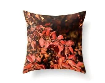Fall Pillow Cover of Autumn Leaves in 9 Sizes from 14x14 Pillow Covers to 30x30 Pillow Covers