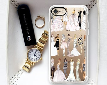 SALE-Fashion Girl Collection  iPhone 6-Phonecase-Fashion Illustration iPhone Case-Fashion Sketch Phone Case