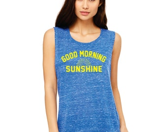 Good Morning Sunshine - flowy muscle tank