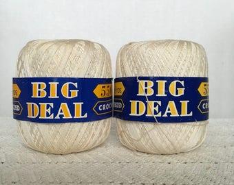 Vintage Lily Mills Cotton Yarn. Crochet Yarn, Thread Yarn, Yarn Lot, String Yarn, Tatting Fiber, Lace Making, Doily