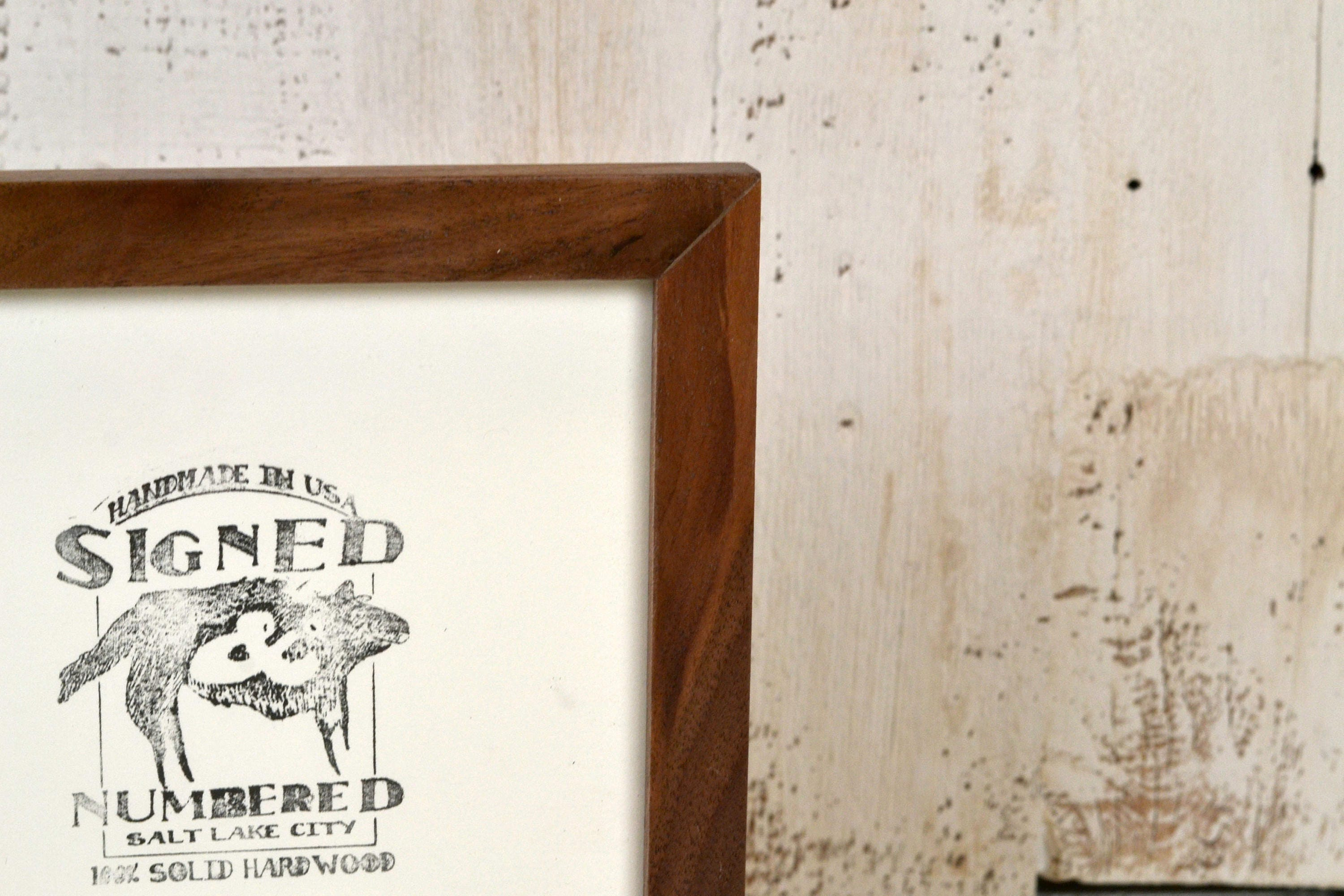 Panoramic Picture Frame in Peewee Style and Natural Wood Tone Color ...
