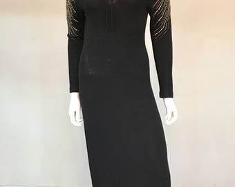 VTG Late 1970s Adolfo Knit Dress