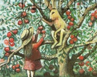 Personalized Bookplates - The Apple Tree -  Adhesive Bookplates - Stickers