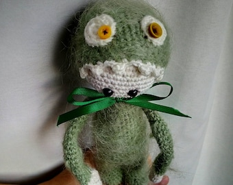 Hairy-Scary Monster  inspired by Lalylala / Crochet toy / Handmade Amigurumi toy/ Halloween Gift / 23 cm tall