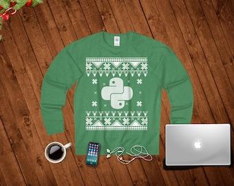 Programmer Christmas Sweater. Programmer Sweatshirt For Men And Women. Programmer Christmas Gift, Python