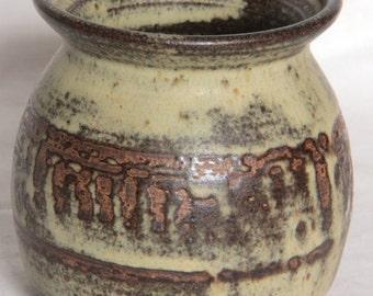 Bentham Pottery Stoneware & Wax Resist Jar