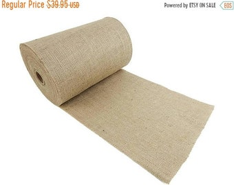 """ON SALE 14"""" Wide 100 Yards 100% Natural Jute Upholstery Burlap Roll"""