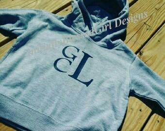 Monogrammed,  monogram toodler, Toddler Hooded Sweatshirt, Toddler, Monogrammed Sweatshirt, Monogrammed Sweatshirt, Toddler Sweatshirt