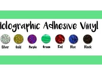 "FLASH SALE!! Holographic Vinyl 12x12"" Sheet Select Colors Only Metal Flake Adhesive Vinyl Fantasy Film Glitter Flake Permanent Indoor Film"