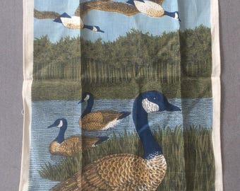 Vintage Lois Long Linen Duck Tea Towel