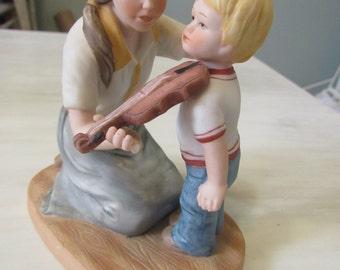 "CLEARANCE Vintage 1982 Enesco figurine ""Learning Together"" E-8791  295"