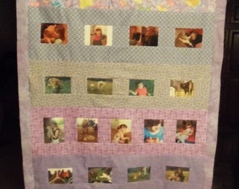 24 Photo Collage quilt - made to order for any occassion