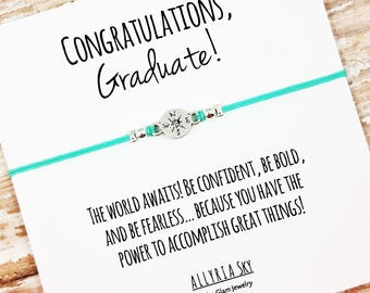 "Charm Friendship Bracelet with ""Congratulations Graduate"" Card 