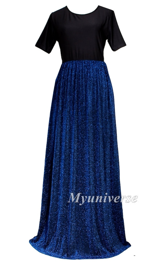 Shinning Maxi Dress Plus Size Clothing Wedding Gown Bridesmaid