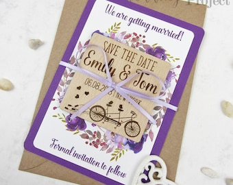 Love Birds Save the Date Magnet, Wood Save the Date, Floral Save the Date, Bike Save the Date, Bicycle Save The Date, Wooden Save our Date