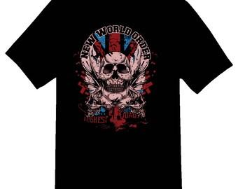 New world order Black or white tee shirt