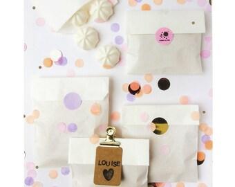 Set 20 small paper bag, kraft white paper bag