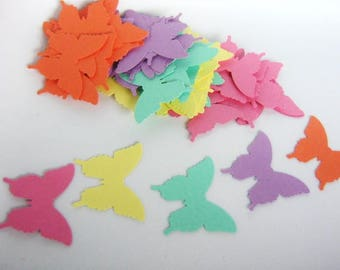 70 Butterfly Die Cut, Blue Orange Purple Pink Yellow, 1 1/4 x 1 inch, Cut Outs, Punches Butterflies, Scrapbook