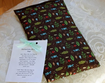 Boy Rice Bag, Therapeutic, Child, Boo Boo Bag, Meadow Friends, Bugs, Insects
