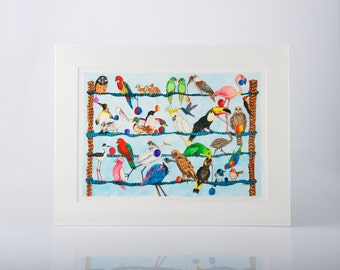Feather Lines  Limited Edition Print by Jenny Laidlaw