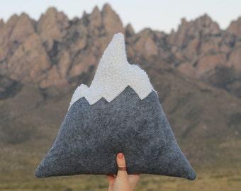 Original Organ Mountain Pillow, Snowy Mountain Pillows, Home Decor, Nursery, Adventure, Soft Mountains, Mountains, Kids Toy, Play