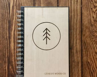Personalized Wood Journal/Notebook