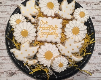 Sympathy Gift/ Sympathy Sugar Cookies/ Sorry for Your loss Sugar Cookies/ Decorated Sugar Cookies