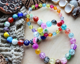 A set of children's bracelets