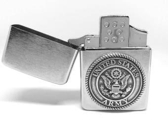 Army Pocket Lighter – Metallic