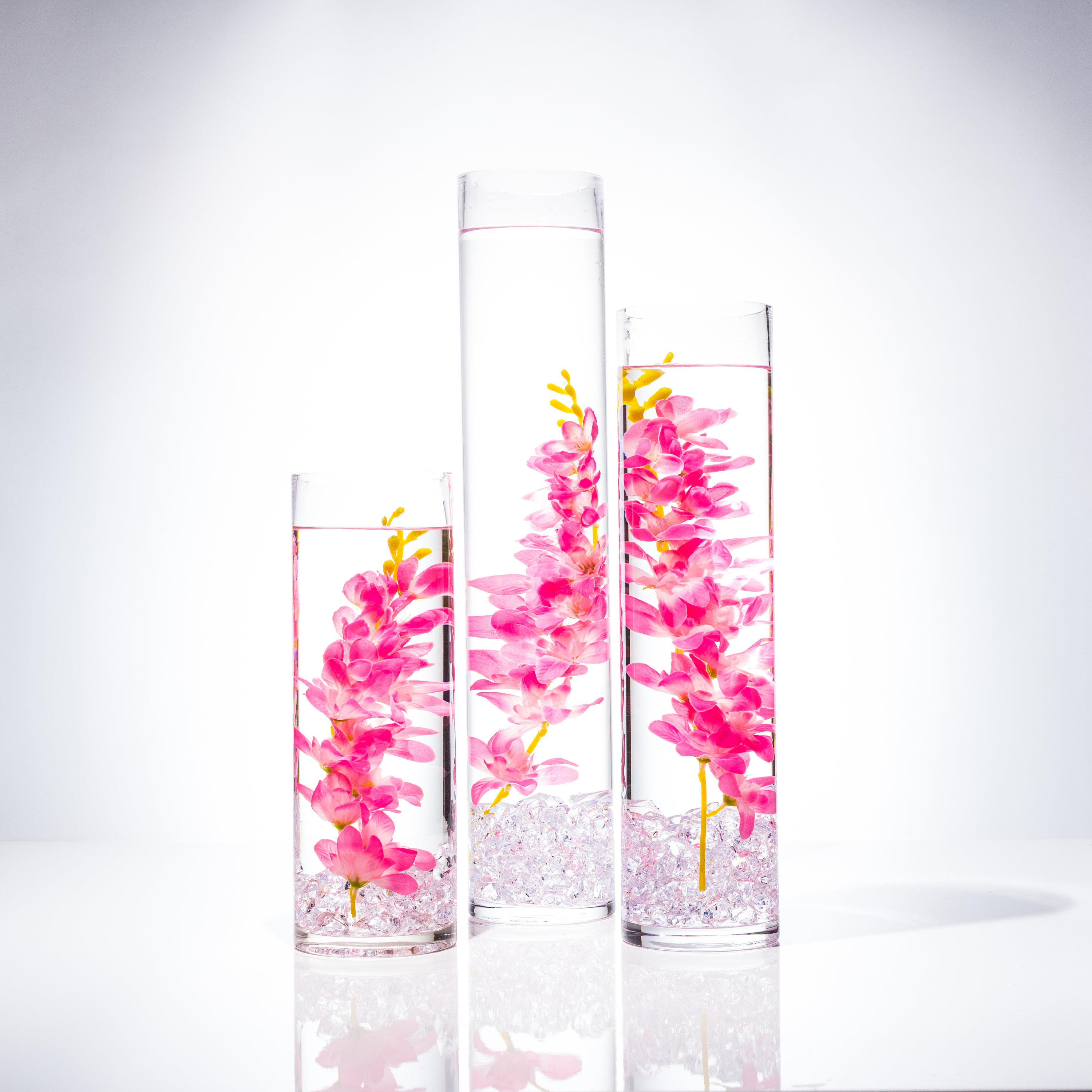 Submersible Pink Wisteria Floral Wedding Centerpiece with
