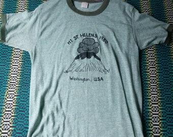 Volcano Shirt Mt St. Helens Shirt vintage Mount ST. Helens Survivor Volcano Eruption Washington State