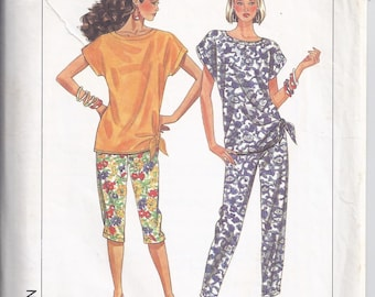 Simplicity Pattern #9669 from 1990  Misses Pants in Two Lengths and Top.    Bust 30 1/2-46   Jiffy Pattern.