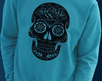 Mexican Skull - Sweater Vinyl Print Handmade - S M L
