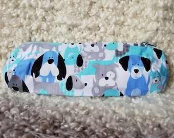 Dog print pencil case