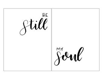 Be Still My Soul - Hand Lettered PDF