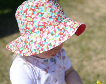 Toddler Girl Summer Hat, Girls Cotton Hat, Toddler Girl Sun Hat, Girls Cotton Beach Hat, Girls Summer Holiday Hat,Wide Brim Sun Hat For Girl