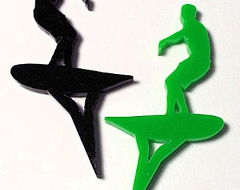 Surfer Cake Topper From 50mm to 250mm  Plus 30mm Spike You choose colour, FREE SHIPPING