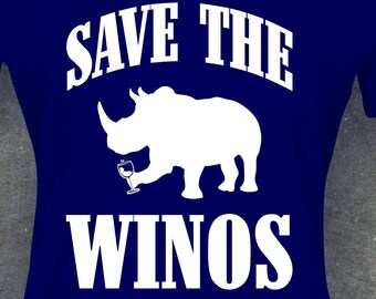 Save the Winos ladies tee, funny tee, wine lover, wine, Mom, gift for Mom, wine gift, wine glass, wine shirt, wine tee, gift for wife, wife.